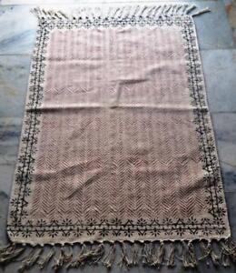 Persian-turkish-kilim-rug-Afghan-veg-dyed-Cotton-handwoven-Home-Doormat-60-90cm