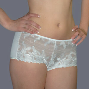 59fc87480 Image is loading Off-White-SEXY-FASHION-FORMS-SHEER-Lace-EMBROIDERED-