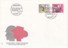 Schweiz  FDC Ersttagsbrief 1989 Mensch u.Beruf Mi.Nr.1402+3