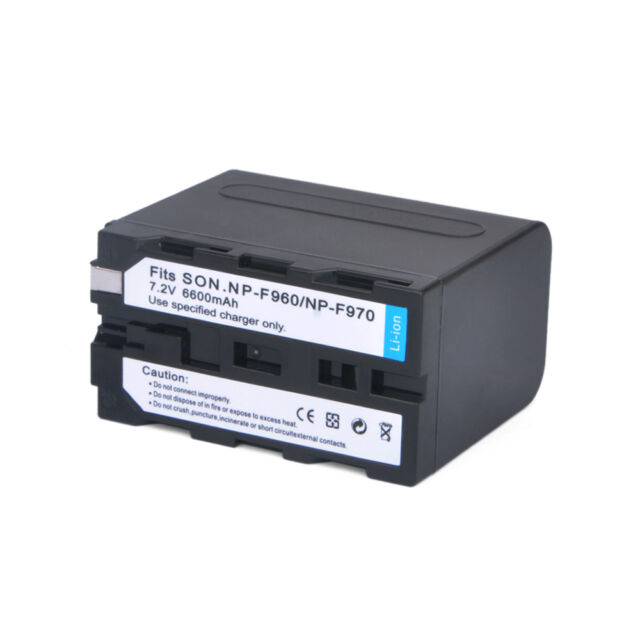 6600mAh NP-F960 NP-F970 Battery for SONY CCD-RV CVX DCR DSR EVO GV HDR Series