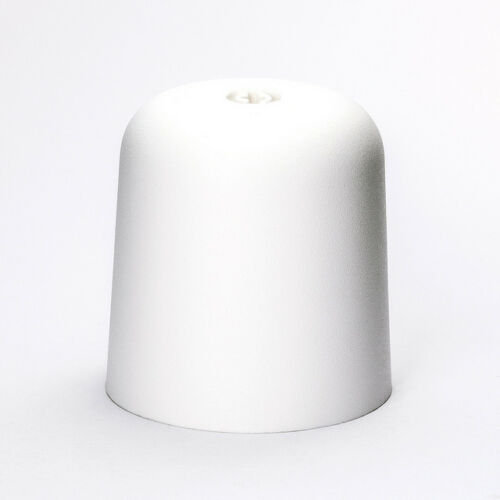 Kunststoff Baldachin Ø 60mm x 70mm Befestigung am Kabel chrom weiß Rosette