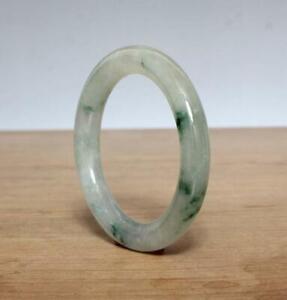 Fine-Chinese-Natural-Green-Jadeite-Jade-Bangle-Bracelet-60MM