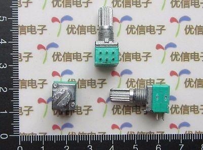 2x Dual Linear 6-Pin B10K Audio Amplifier Seal Potentiometer Handle 15MM +Nuts