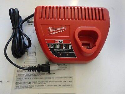 Milwaukee 48-59-2401 M12 Li-ion 12V 12 VOLT Li-Ion Battery Charger Genuine