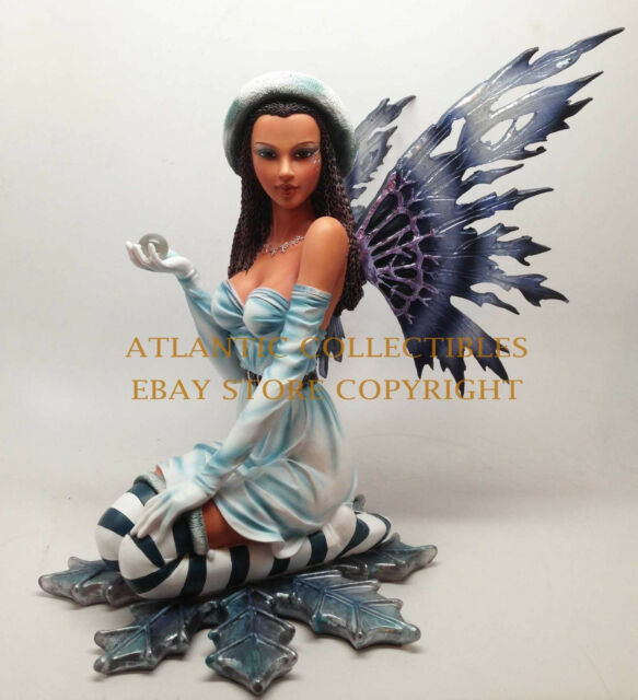 "MEADOW LEGENDS FIGURINE WINTER FAIRY SNOWFLAKE FROST GUARDIAN STATUE LARGE 11""H"