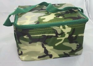 Image Is Loading Light Duty Camouflage Lunch Bag Green Camo Insulated