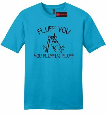 Comical Shirt Mens Fluff You Fluffin Fluff Funny Unicorn Tee Tank Top