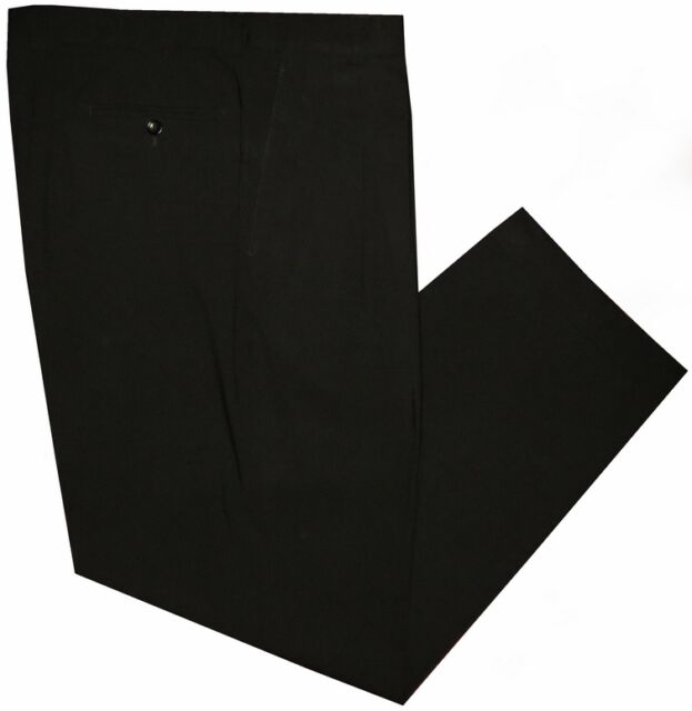 PREOWNED MINT BLACK GIORGIO ARMANI COLLEZIONI 2 PLEAT MENS DRESS PANTS 36 37