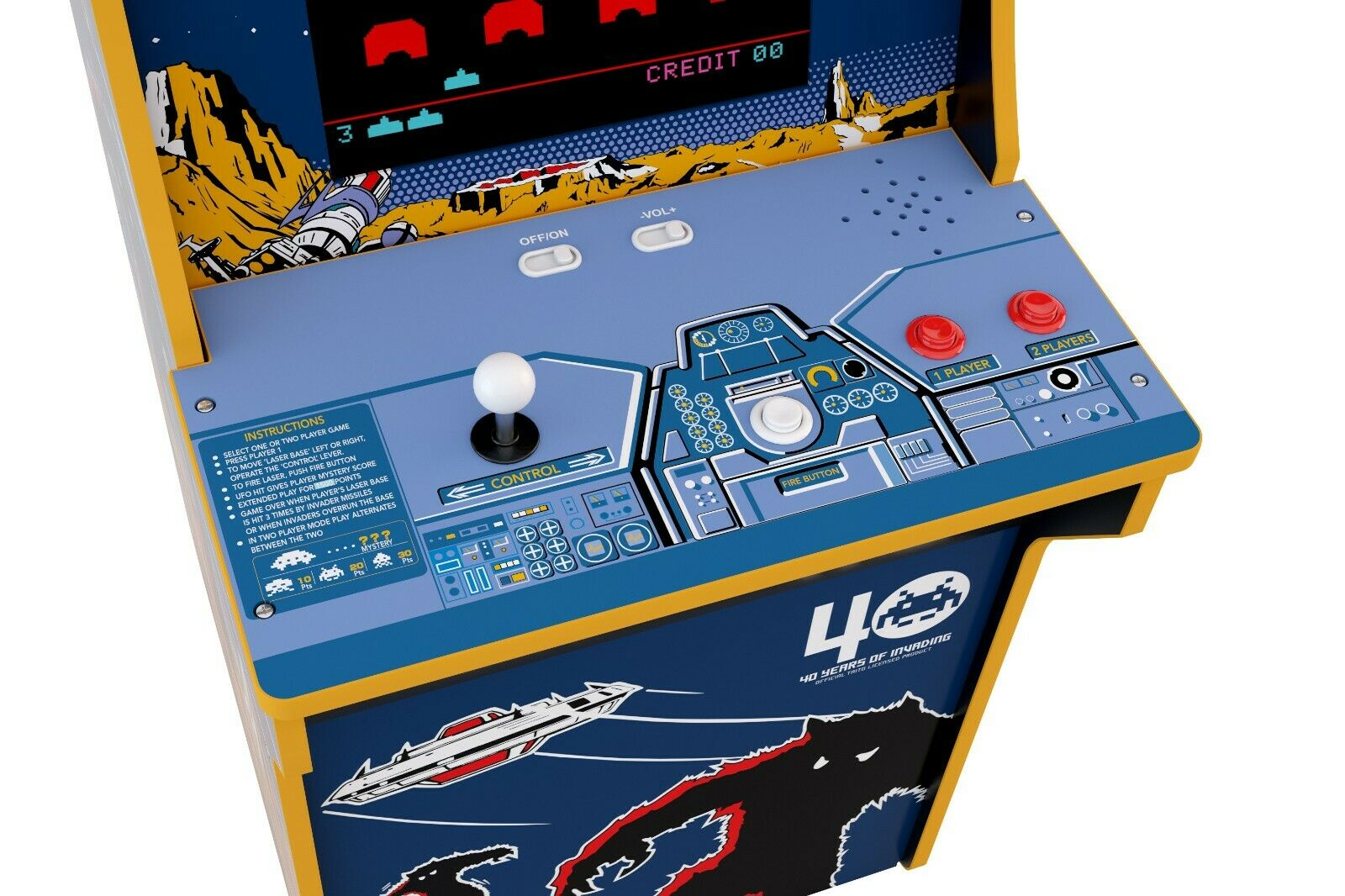 Galaga or Space Invaders Replacement Joystick new Arcade 1up