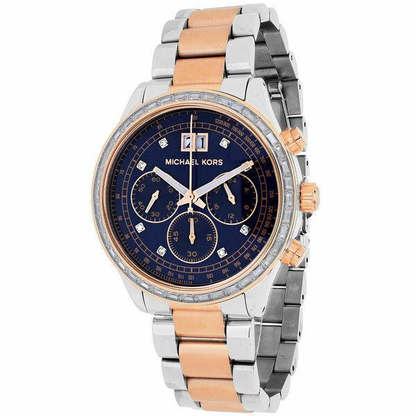 78936314deac Women s Michael Kors Brinkley Chronograph Glitz Watch MK6205 for sale  online