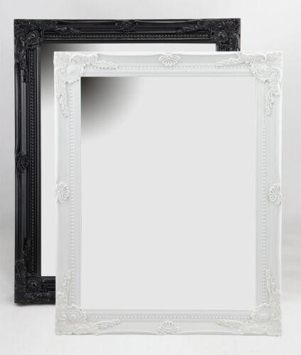 Klassik Style Wandspiegel in Schwarz Weiß 36,5x46,7 cm Schmink Spiegel Flur