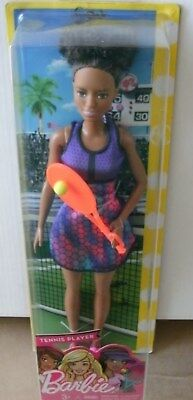 BARBIE Doll Mattel  African Black CAREERS I CAN BE TENNIS PLAYER Tennis Pro