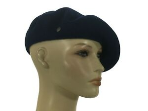 3b82037bb60f6 Laulhere L authentique 100% Wool Beret Hat Blue 6 3 8 - 6 5 8 Made ...