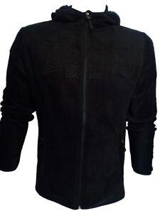 best loved b994c 01813 Dettagli su Felpa in pile uomo maglia pile con zip,cappuccio invernale nero  LONSDALE tg XL