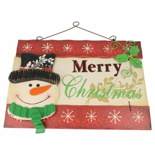 Santa or Snowman Merry Christmas wall plaque    10137