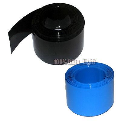 Φ76mm Width 120mm Blue Battery Sleeve Electrical Wrap PVC Heat Shrink Tubing