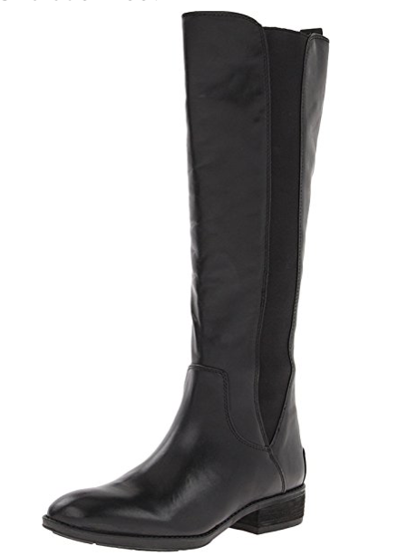 NIB  190 Sam Edelman PARADOX noir LEATHER Riding bottes femmes 6 1 2 M 6.5 M