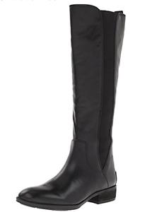 NIB $190 Sam Edelman PARADOX BLACK LEATHER Riding Boots Womens 6 M