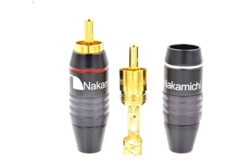 8 Pcs High Quality Nakamichi RCA Plug Solder Gold Audio Adapter Connector N0556