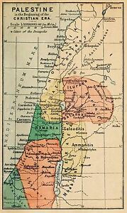 MAP-ANTIQUE-1889-CONDER-PALESTINE-ANTIQUITY-LARGE-REPLICA-POSTER-PRINT-PAM0366