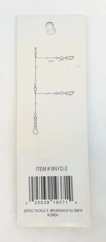 BNYD-2 2 RIGS PER PACK 3 PACKS OF 2 DROP-MONO GULF RIGS