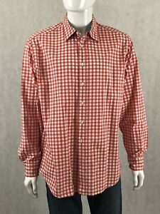 2f1751bca6d GAP Classic Fit Soft Wash Button Up Shirt Mens Size X-Large XL Red ...