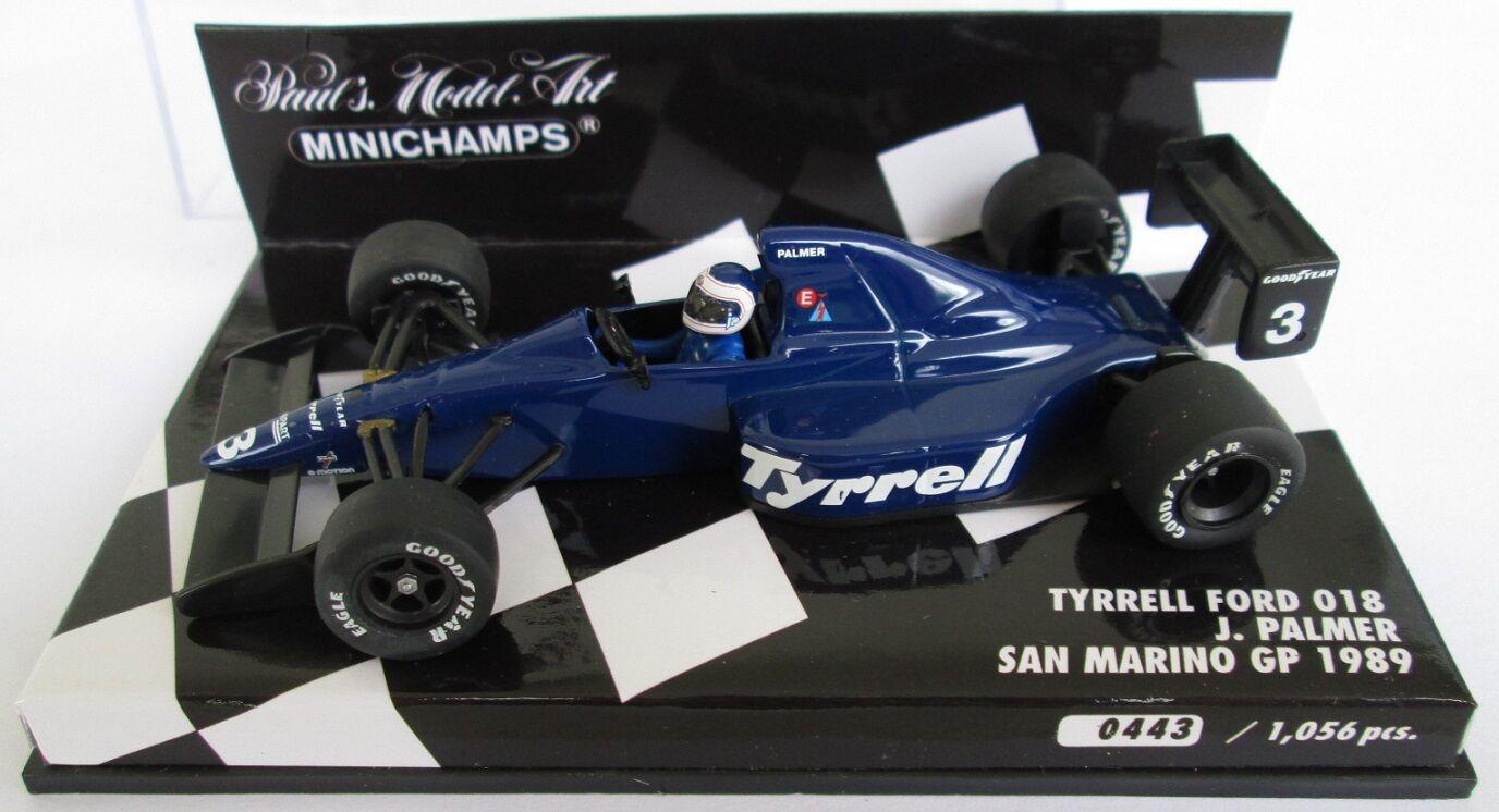 F1 1 43 TYRRELL 018 FORD PALMER SAN MARINO GP 1989 MINICHAMPS