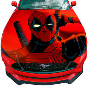 Deadpool Hood Decal 23 Multi Use Vinyl Sticker For Car Etsy