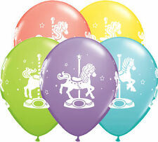 "10 pc - 11"" Carousel Horses Latex Balloons Happy Birthday Wedding Baby Shower"