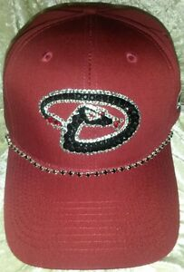 Arizona Diamondbacks Womens Rhinestone Bling MLB Baseball Cap Hat ~NEW~