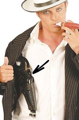 Leather Look Shoulder Holster Fancy Dress Gun Accessory Costume Cop Mens