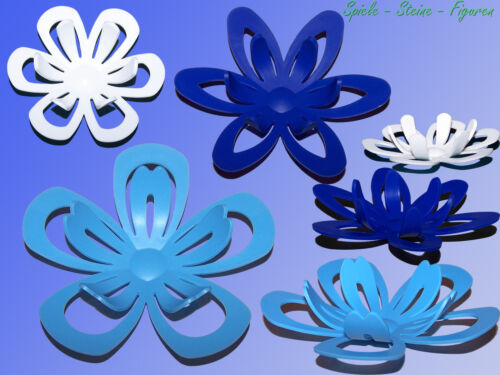 """Push Buttons 4.72 /"""" 11//16in Incl 3d Wall Deco Flower Bloom Ø 2.76 /"""""""