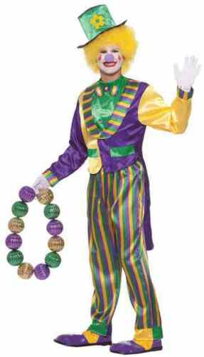 Carnivale Clown Mardi Gras Parade Carnival Fancy Dress Halloween Adult Costume