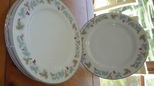 "Dinner plate Plates Vintage by Fine China of Japan circa 1967 EUC 4 10.25"" plate"