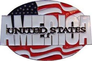 USA-Amerikanische-Flagge-Guertelschnalle-Vereinigte-Staaten-Of-America