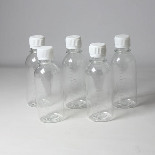 5 × 150ml Clear Plastic Seal Bottle Reagent Sample Vials Lab Supplies LC859A