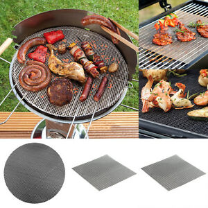 Ronde-BBQ-Grill-Maille-Mat-Tapis-Antiadhesif-Grille-Pad-Non-stick-Barbecue-Outil