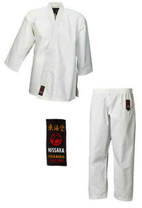Karategi-Tokaido-Nissaka-10oz-Baumwolle-Gi-Karateanzug-Groesse-140-210-Kata