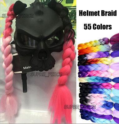 Ponytail Motorcycle Bike PC Helmet Punk Hair Plait 1 pcs Helmet Double Braids