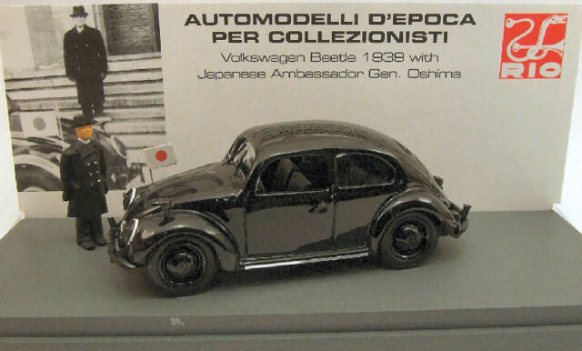 Oshima 1:43 Model RIO4247P Volkswagen VW Beetle 1939 Japanese Ambassador Gen