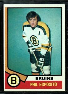1974-75 TOPPS HOCKEY BOSTON BRUINS PHIL ESPOSITO CARD HOF #200 EX-MT