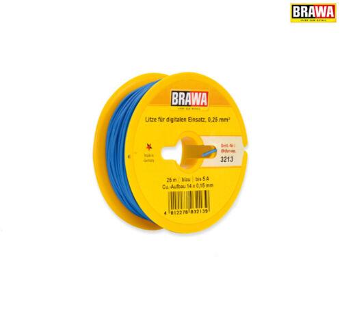 BRAWA 3213 Cavo digitale arteria singolo 0,25 mm², 25 M BOBINA, Blu +++ NUOVO