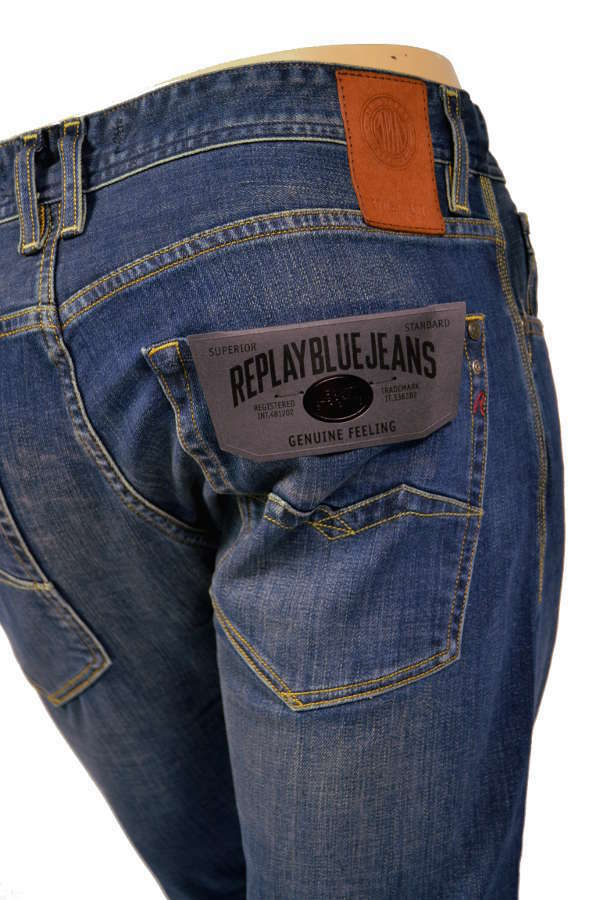 REPLAY Jeans ma950 Rob Easy Stretch Denim 31d 300-Straight Tapered-NUOVO