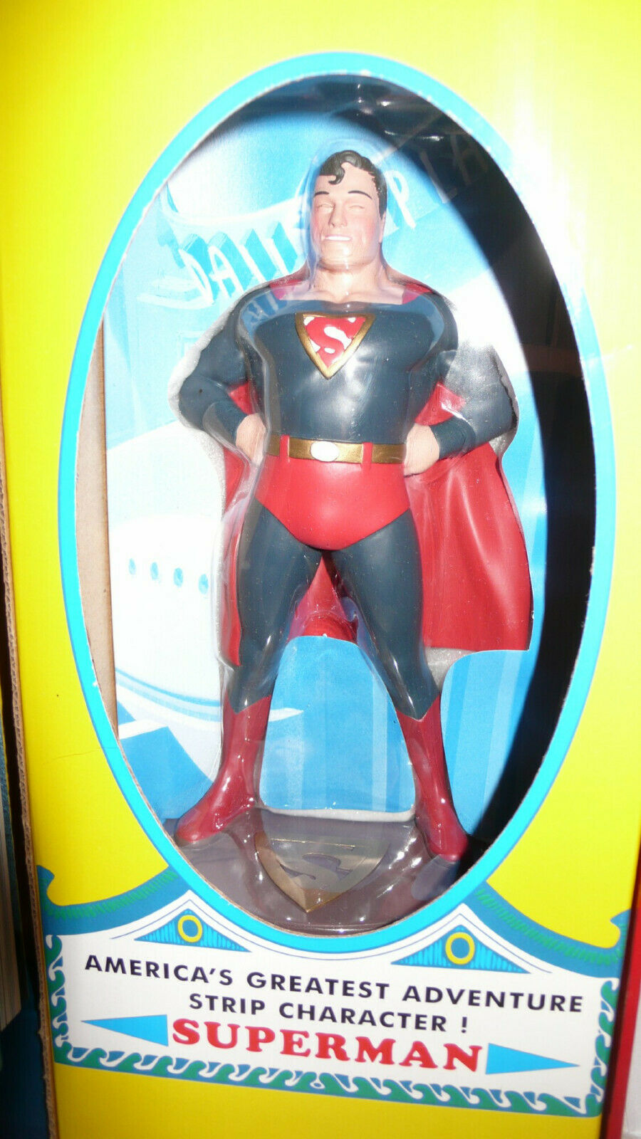 Superman Masterpiece ed.8  statue 1938 Superman,re-print 1st comic+ bk.Make offr