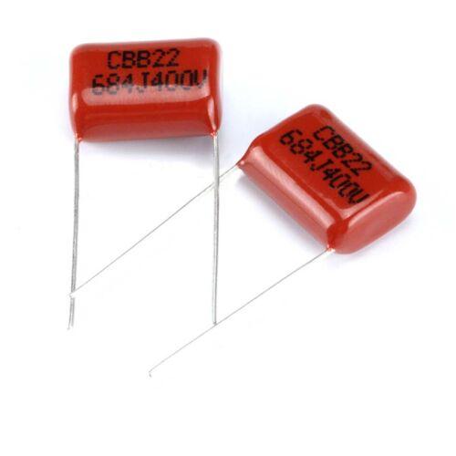10x CBB Capacitors 400V 0.68uF 684J 680nF Polyester Film Capacitors Pitch 15mm