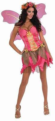 Garden Fairy Pink Pixie Fantasy Fairies Fancy Dress Up Halloween Adult Costume