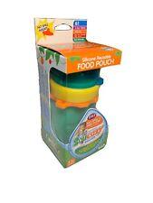 Aqua 6 oz Squeasy Snacker Spill Proof Silicone Reusable Food Aqua Age 6 mos+