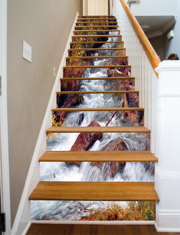 3D Tree flow 367 Stair Risers Decoration Photo Mural Vinyl Decal Wallpaper UK