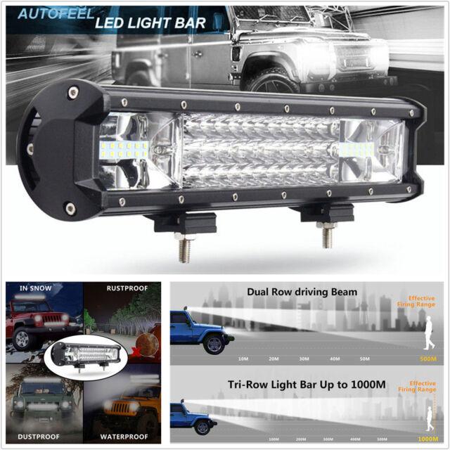 432W Tri-row 7D LED Work Light Bar Spot Flood Combo Offroad SUV Truck Light USA