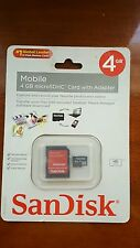 SanDisk Mobile 4 GB microSDHC Card with Adapter